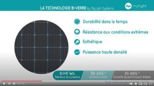 Vidéo Panneaux solaires bi-verre by MyLight Systems
