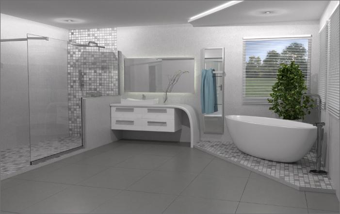 Chauffage infrarouge Thermobule par Novita dans la salle de bain