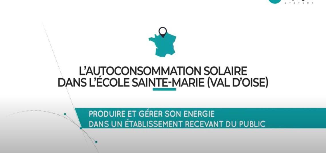 Vidéo Installation d'autoconsommation solaire MyLight Systems dans une école